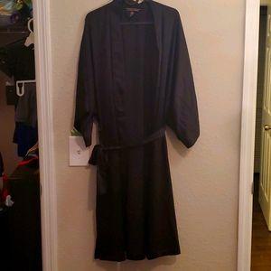 Victoria's Secret black satin robe size M/L